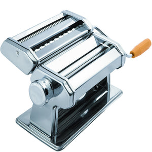 Pasta Maker Machine - Stainless Steel Roller for Fresh Spaghetti Fettuccine Noodle Hand Crank Cutter