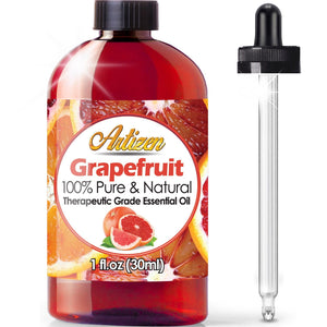 [Pack of 2] Artizen Grapefruit Essential Oil (100% PURE & NATURAL - UNDILUTED) Therapeutic Grade - Huge 1oz Bottle -...