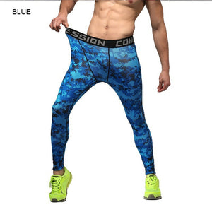Men Fitness Leggings Tights Active Trainings Gyms Clothing Pants