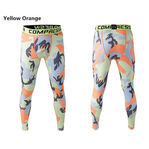 tights layer camo long pants running tights compression sports leggings