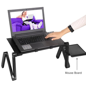 Homdox 360 Degree Adjustable Foldable Laptop Stand Notebook Computer Desk Table
