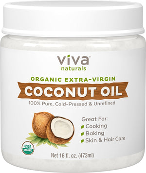 [Pack of 2] Viva Naturals Organic Extra Virgin Coconut Oil, 16 Ounce Each