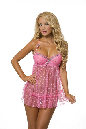 Kitten Sexy Fever Blush Babydoll Lingerie for Women 512156