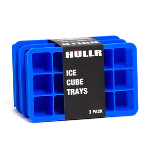 Ice Cube Silicone Trays, 3 Pack BPA Free, 1 Inch Cubes