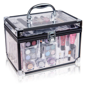 Carry All Trunk Professional Makeup Kit - Eyeshadow,Pedicure,manicure With Black Trim...