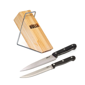 6 Piece Stainless Steel Kitchen Knife Set With Wooden Block