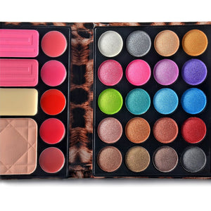 Professional Makeup Kit Eyeshadow Palette Lip Gloss Blush Concealer,29 Color