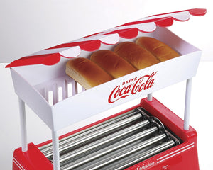 Nostalgia HDR565COKE Coca-Cola Hot Dog Roller and Bun Warmer