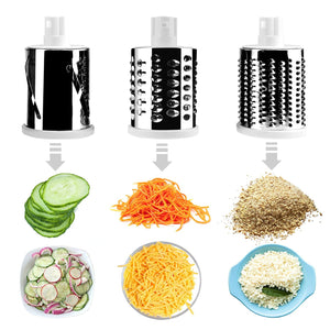Round Mandoline Drum Slicer Rotary Cheese Grater Veggie Slicer Vegetable Carrot Shredder Nut Chopper