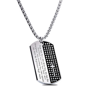Christian Dogtag/Dog Tag - Premium Jewelry for Teens, Men & Women [Military Style]
