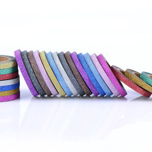 24 Pieces Washi Tapes Glitter Crafting Tape Art Tapes Masking Tape for Arts Crafts and DIY, 12 Colors