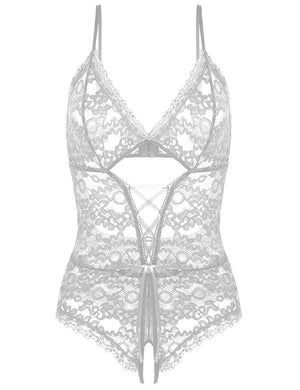 Lingerie for Women One Piece Lace Bodysuit Sexy Teddy Babydoll
