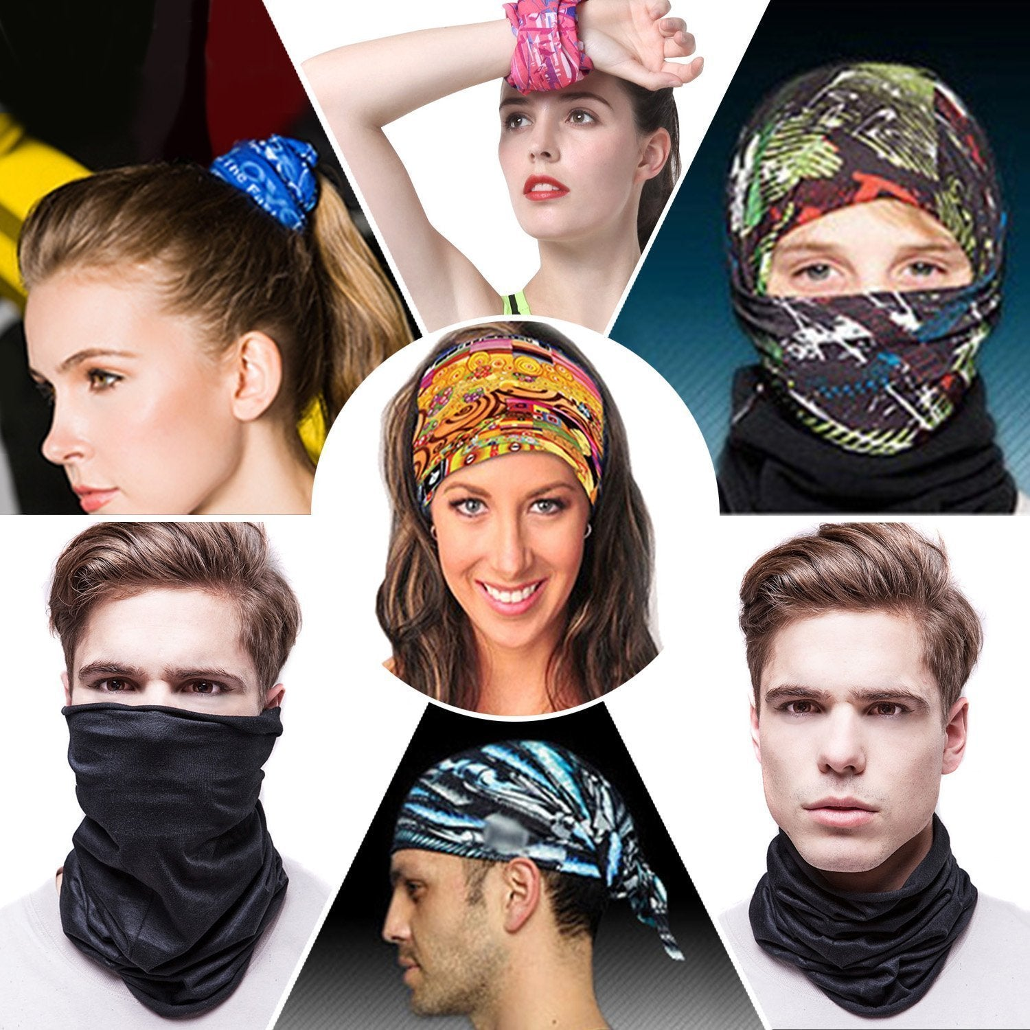Magic Headwear Wind Bell Outdoor Scarf Headbands Bandana Mask Neck Gaiter Head Wrap Mask Sweatband