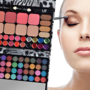 All-in-one Makeup Kit Professional Eye Shadow Palette Lip Gloss Blush Eyebrow Powder,72 Colors
