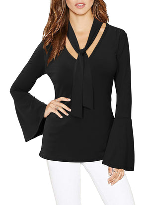 HyBrid & Company Womens Kimono V Shaped Neck Top With Flare Sleeves Made In USA