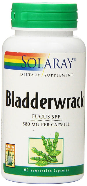 [Pack of 2] Solaray Bladderwrack, 580 mg, 100 Count Each