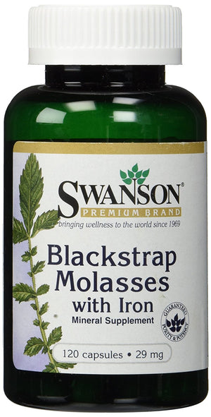 [Pack of 2] Blackstrap Molasses with Iron 29mg (Two Bottles each of 120 Capsules)