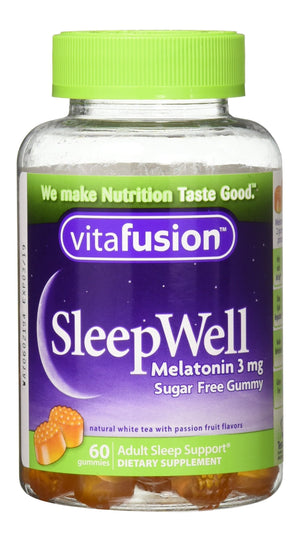 [Pack of 3] Vitafusion Sleep Well Gummies, 60 Count Each