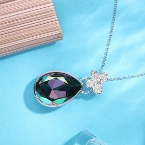 """Butterfly Valley"" Purple Color Change Teardrop Pendant Necklace for Gift,Crystal from Swarovski"
