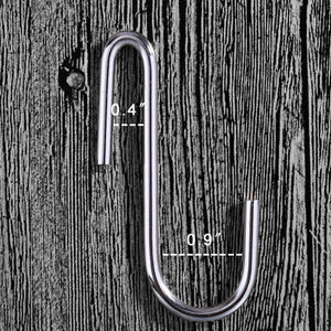 20 Pack Heavy-duty S Shaped Hooks S-hooks Hanging Hooks Hangers for Kitchenware Spoons Pans Pots Utensils Bags Towels Clothes Plants Gardening Tools