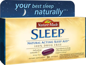 [Pack of 2] Nature Made Soft Gel Natural Sleep Aid, Pack of 30 Softgels Each