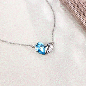 """ Love Knot"" Pendant Necklace Engraved""Love""for Women Girls Birthday Gift, Crystal from Swarovski"