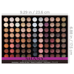 Natural Fusion Eyeshadow Palette (88 Color Eyeshadow Palette, Nude Palette), 2.15 Ounce