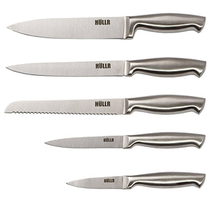 Stainless Steel Kitchen Knife Set With Acrylic Stand - 6 Piece set