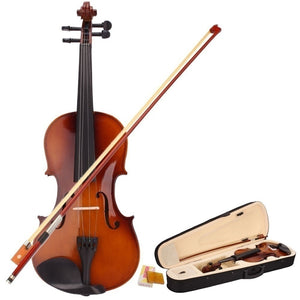 NEW 4/4 Full Size Acoustic Violin Set Fiddle with Case Bow Rosin