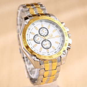 Fashion Stainless Steel Bussiness Mens Quartz Wrist Watch
