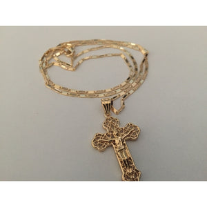 14K Gold Cross Necklace and Pendant Brand New