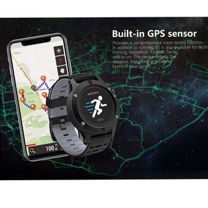 GPS Bluetooth Heart Rate Smart Bracelet, Waterproof Pedometer Activity Tracker Watch Sleep Monitor