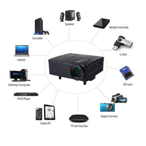 HD 1080P Mini LCD Image System Multimedia LED Projector Home Theater Cinema Digital Projectors