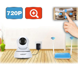 Wanscam HD 720P Megapixels Wireless WiFi Pan Tilt Network IP Cloud Indoor Camera Support PTZ TF Card Record 2-way Talk P2P Andro