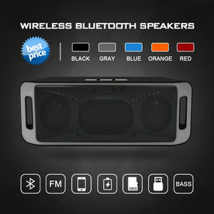 Hifi Portable Wireless Sound Box Bluetooth 4.0 Stereo Subwoofer TF USB FM Radio Loud Speaker Bass Sound Speakers