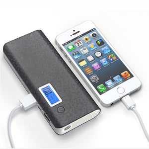 20000mah Mobile Power Bank 2 USB LCD LED 18650 External Backup Battery Portable Charger