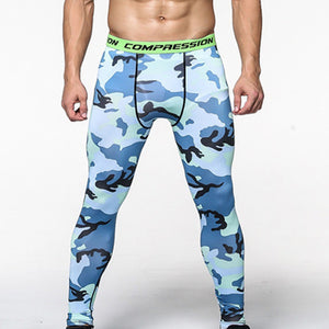 STAYTE Men's Running Camo Compression Leggings Base Layer Fitness Jogging Trousers Tights Sport Training Gym Wear Pants wsfsC161