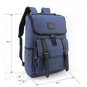 Lightweight Canvas Leather Travel Backpack Rucksack School Bag laptop backpack Daypack for School Working Hiking