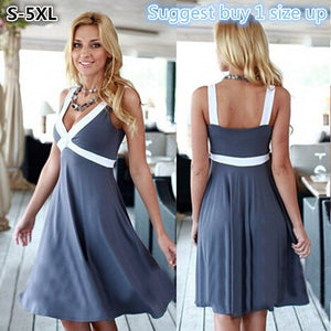 S-5XL Sexy Women Fashion Summer Cocktail Dress