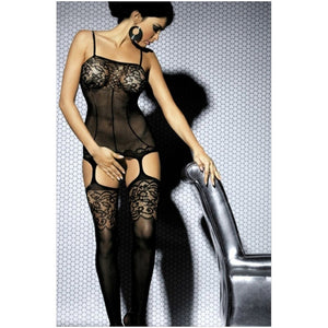 Women Sexy Lace Open Crotch Bodystocking,Size XS/S/M/L/XL/XXL/XXXL (Black)