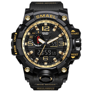 Men's Sport Digital LED Clock  Army  Wristwatch 50M Waterproof Military Watches