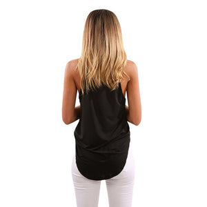 Sexy Women Fashion Halter Sleeveless Tank Top Solid Color Casual Summer Vest Women Blouse Tops S-3XL