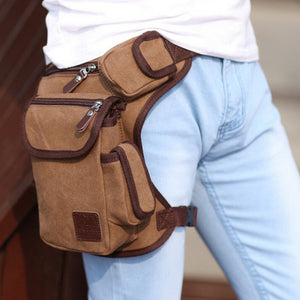 Multifunction Outdoor Cotton Sport Leg Bag Canvas Waist Bag Money Belt Fanny Pack