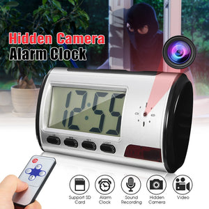 Mini Digital Alarm Clock Hidden Dv Camera Video Dvr Recorder Motion Detection  Remote Control