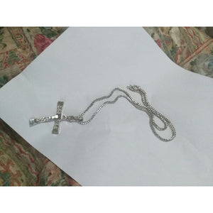 MENS SILVER GOLDEN CROSS NECKLACE PENDANT FAST AND FURIOUS TORETTO'S MOVIE NECKLACE