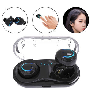 Bluetooth V4.2 Wireless Mini Earphone Stereo Subwoofer Noise Reduction Waterproof Smart In Ear Headset Charger Earphone for Smar
