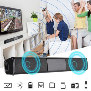 Soundbar Home Theater TV Speaker Portable 3D Subwoofer Wireless Bluetooth TV Soundbar