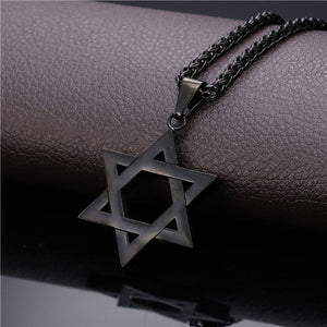 Star of David Pendants Necklaces for Women/Men 18K Gold Plated Stainless Steel Magen David Chain