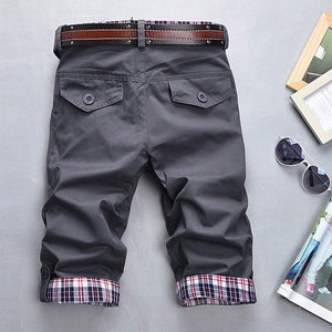 Summer Leisure Cultivate One's Morality Fashion Handsome Short Pants,Black,Gray,Khaki,Cropped Trousers