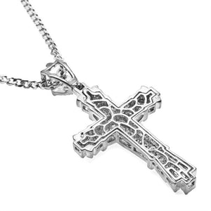 2018 Men's Fashion Jewelry 18K Gold / 925 Silver DIAMOND Stainless Steel Cross Pendant Necklace Chain